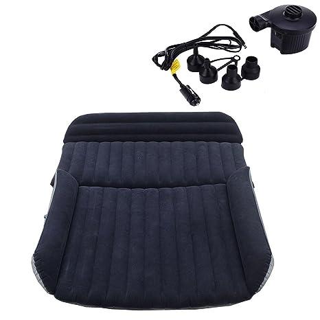 Colchón hinchable y resistente con bomba de aire para asiento trasero de coche o todoterreno,