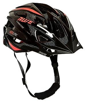 AWE® Aerolite Casco de Bicicleta para Hombres – Negro/Rojo, tamaño 56 –