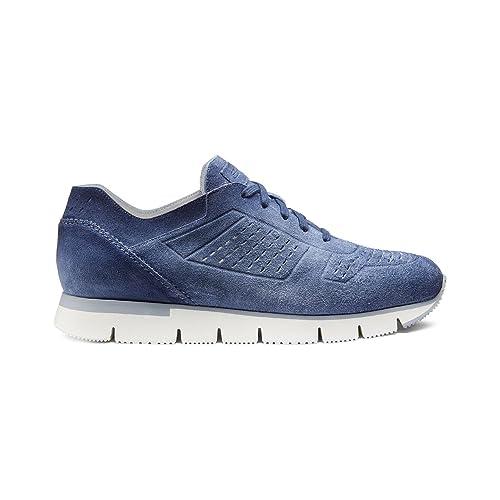 SANTONI Sneakers Uomo MOD. Iper in camoscio Azzurro (10(44))  Amazon.it  Scarpe  e borse bf4483ddd69