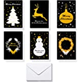 Christmas Greeting Cards,HBlife 36 Handmade Holiday Xmas Cards & Envelopes for Xmas/New Year