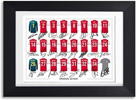 Arsenal Team Squad 2019-20 Signed Poster Print