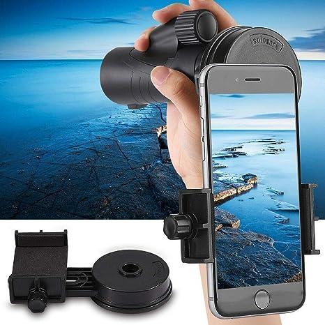 Soporte universal para telescopio, adaptador de teléfono celular ...