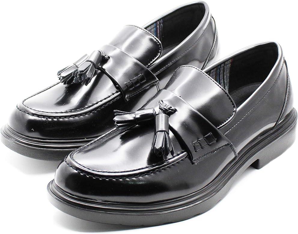 Mocasines para Hombre Elegantes con borlas Negras Negro Size: 44 ...