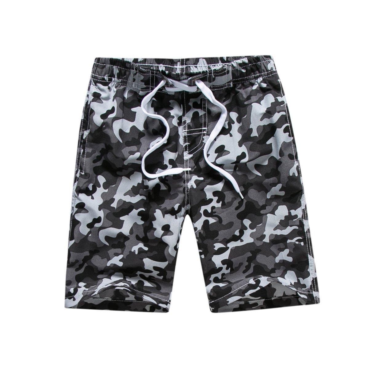 Kute 'n' Koo Big Boy's Swim Shorts, Quick Dry Camo Swim Trunks Boys Bathing Suits
