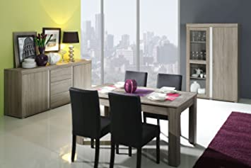 Esszimmer Komplett Set Fourni 3 Teilig Farbe Sonoma Grau