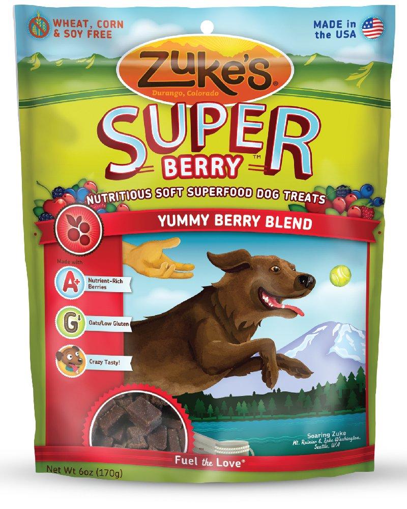 Zuke's Super Tasty Greens Blend Dog Treats - 6 oz Yummy Berry Blend