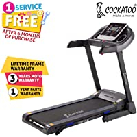 Cockatoo CTM06M 4 HP Peak Motorised Multi-Function Treadmill With G-Fit App Support(Free Installaton Assistance)