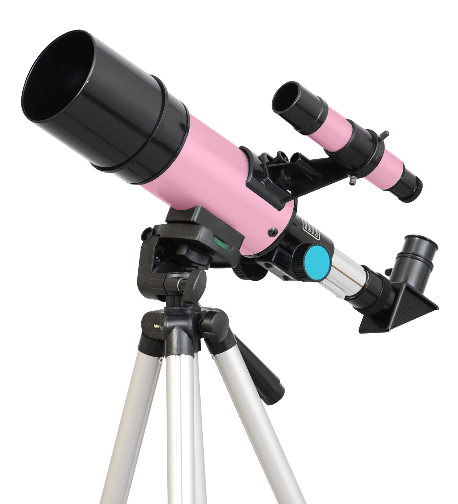 TwinStar 60mm Refractor Telescope 300mm Focal Length | 15x and 50x Magnification Eye Pieces Included | Easy, Light Weight and Includes Aluminum Tripod | Great for Kids by Twin Star