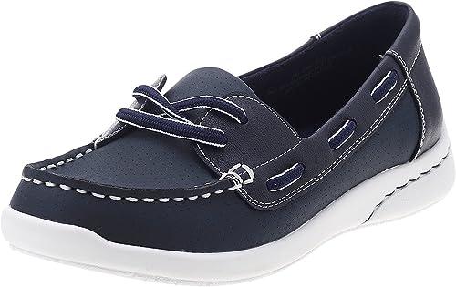Studio Works Sol Boat Shoes Blue Size