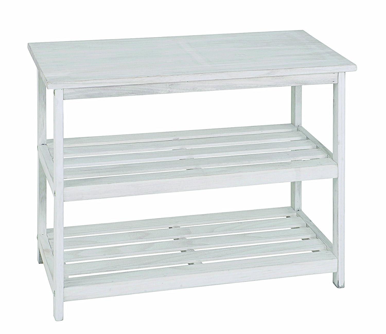 HAKU Möbel 26319 Regal 65 x 32 x 52 cm, weiß gewischt