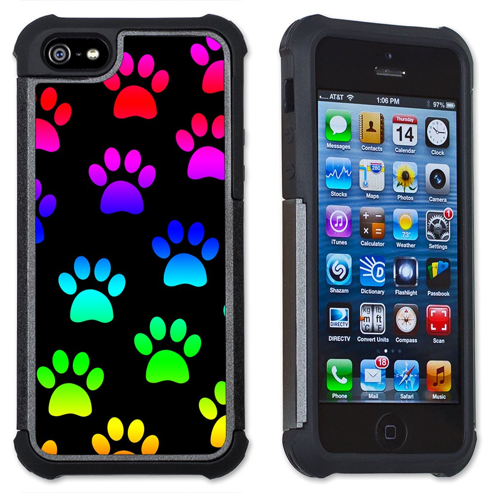 Paw Prints - Maximum Protection Case / Cover with Cushioned Corners for iPhone 5 & iPhone 5S by Art Plates