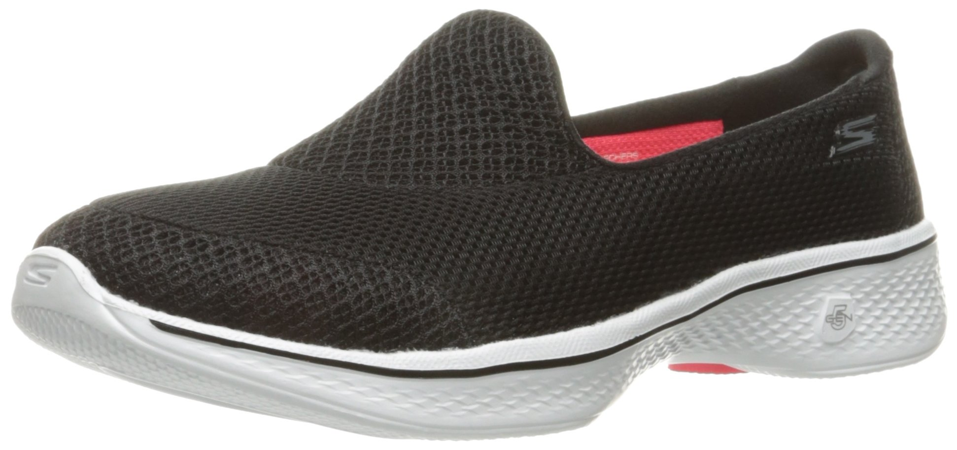 Skechers Performance Women's Go Walk 4 Propel Walking Shoe,Black/White,7.5 M US