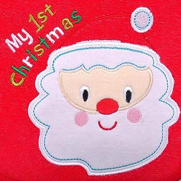 Babero de Navidad para bebés, Toalla bordada de moda de saliva, Babero impermeable para bebés recién nacidos, Baby Shower perfecta, Doble, ...