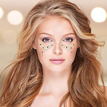 Personalidad de la moda pecas bronceado cara facial marca de agua ...