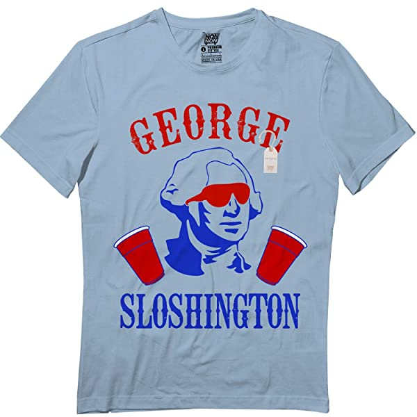 George Sloshington 4th Of July Drinking Beer Pong Funny Tshirt
