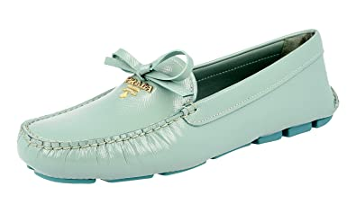 159528c439b ... spain prada womens 1d530b turquoise saffiano leather loafers eu 37  5e4bf 06402 ...