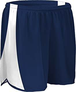 product image for PT687 Mens and Womens Dry Fit 5 Inch Track Short with White Side Panels with Matching Inner Brief-Great for Running, Jogging, Walking, and Aerobics (Large, Navy/White/Navy)