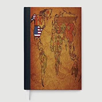Amazon.com : USA Map, Business Notepad Daolin Paper, Old Political on