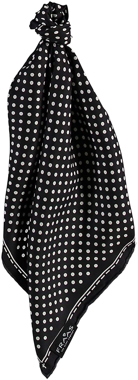 Haarband gepunktet FRAAS Bandana Tuch gepunktet Dreieckstuch f/ür den Sommer schickes Seidentuch mit Polka Dots elegantes Nickituch f/ür Damen