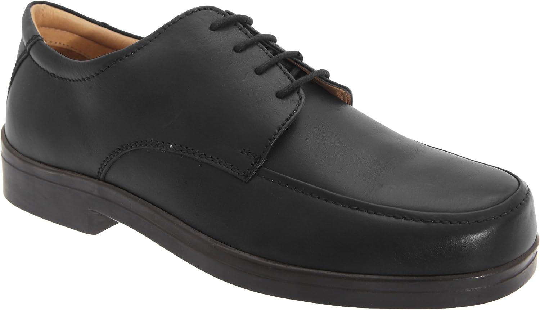TALLA 42 EU. Roamers - Zapatos con cordones para pies anchos Hombre Caballero