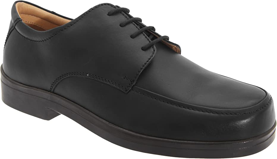 Roamers - Zapatos con cordones para pies anchos Hombre Caballero