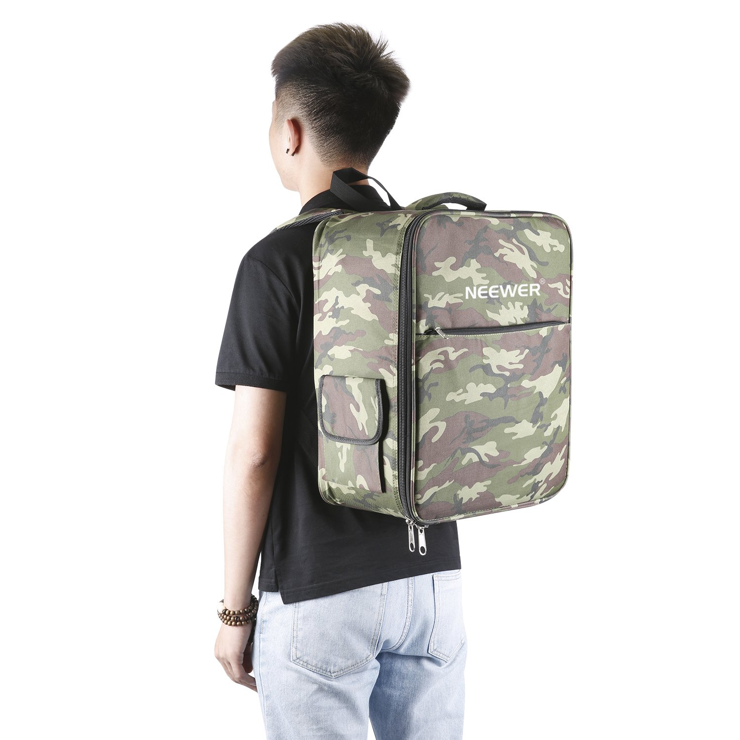 Neewer Multi-Function Waterproof Backpack Bag Case for DJI Phantom 1 FC40 2 2 Vision 2 Vision+ 3, DJI 3 Professional, Advanced, Standard, 4K Cameras and Accessories(Camouflage) by Neewer (Image #7)