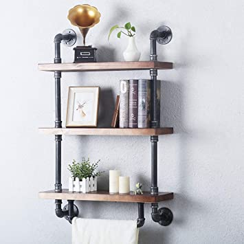 Fof Reclaimed Wood And Industrial Pipe Industrial Chic Steampunk