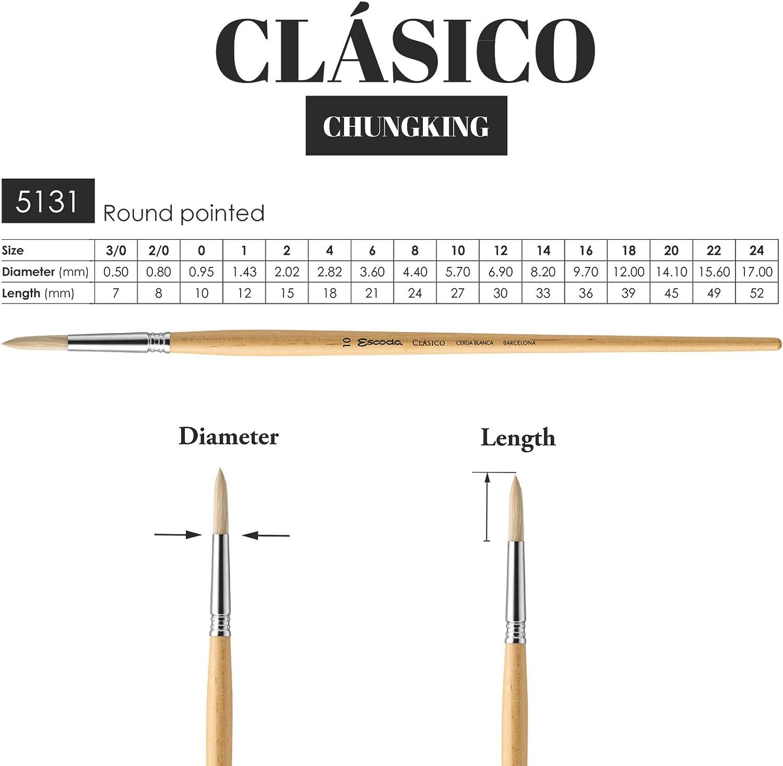 Escoda Clasico Hog Series 5131 Round # 6