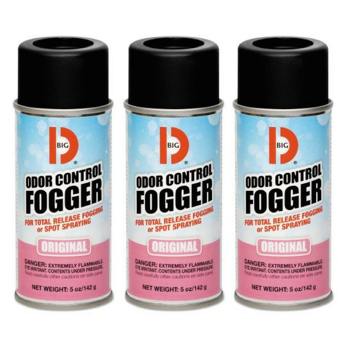 Big D 341 Odor Control Fogger, Original Fragrance, 5 oz (Pack of 12) - Kills odors from fire, flood, decomposition, skunk, cigarettes,musty smells - Ideal for use in cars,management , hotels - 3 Packs