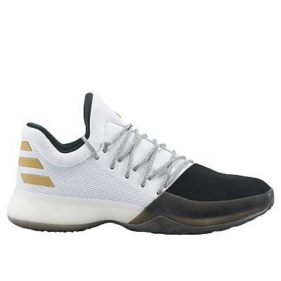 adidas Men's Harden Vol. 1, FOOTWEAR WHITE/CORE BLACK/GOLD METALLIC