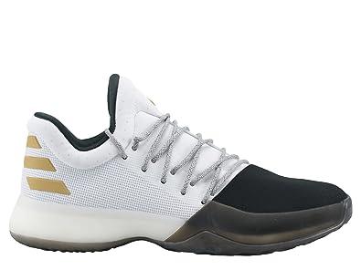 adidas Men's Harden Vol. 1, FOOTWEAR WHITE/CORE BLACK/GOLD METALLIC,