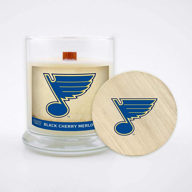Black Cherry Merlot Worthy Promo NHL St Louis Blues 8 oz Candle