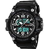 Timewear Military Series Analogue Digital Black Dial Sports Watch for Men - 1283 Black