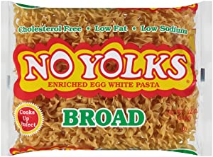 No Yolks Broad Egg Noodle, 12 oz (Pack of 12)