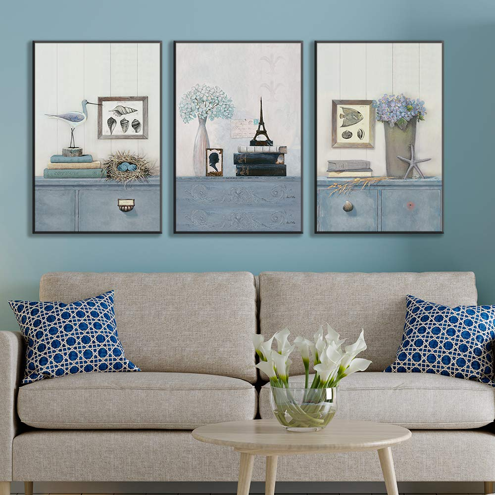 16x24x3 Panels Bedroom White Deer in Forest Canvas Prints for Home Decoration Ready to Hanging NWT Framed Canvas Wall Art for Living Room