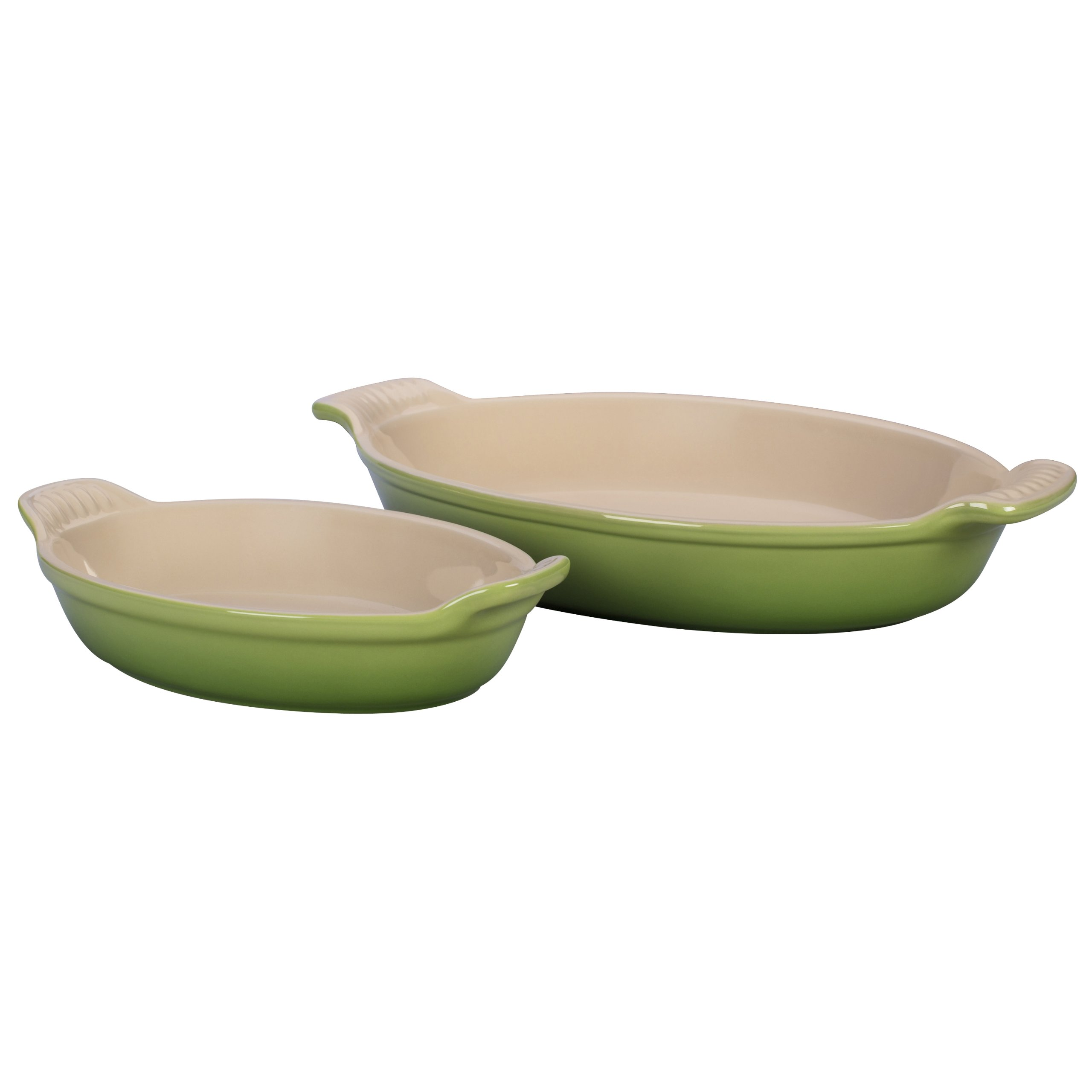Le Creuset Stoneware Heritage Oval Au Gratin Dishes, Palm, Set of 2