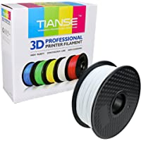 TIANSE 1.75mm PLA Filament White for All Kind of 3D Printer, 1 kg Spool, Dimensional Accuracy +/- 0.03 mm