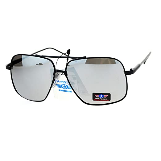 dd6476bc7f8 Amazon.com  Air Force Sunglasses Retro Metal Square Aviators UV400 ...