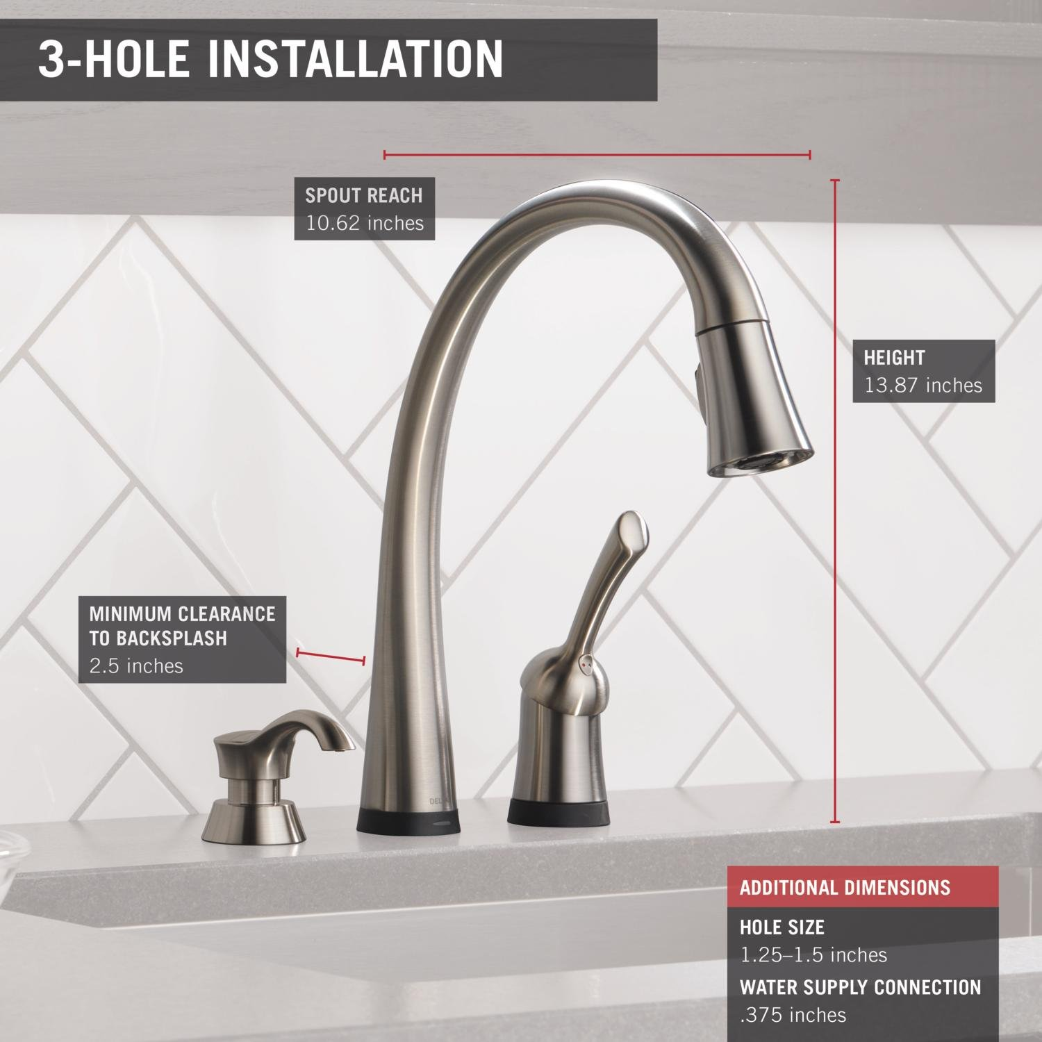 kohler single collection brass handle faucets with masco prime faucet sprayer spray entity side kitchen