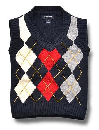 Amazon Boys Cable Knit Sweater Vest Autumn Cotton V Neck