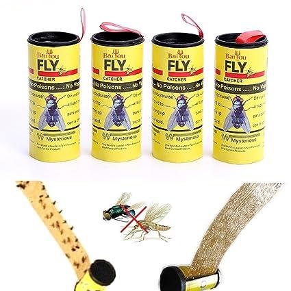 Papel moscas 1 cinta atrapa moscas insectos mosquitos adhesivo pegamento