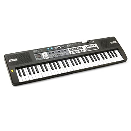 7821fd363ad Plixio 61 Key Children s Electric Piano Keyboard with Electronic Music  Lesson Mode   Adapter