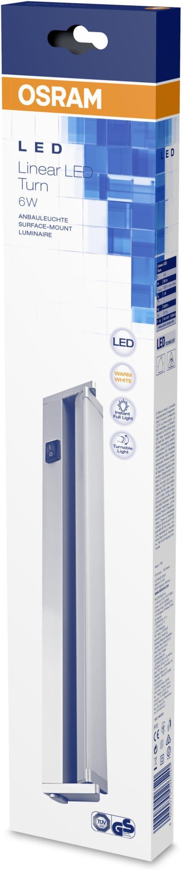 Osram Linear LED Turn 3000K 6 W Argento Small