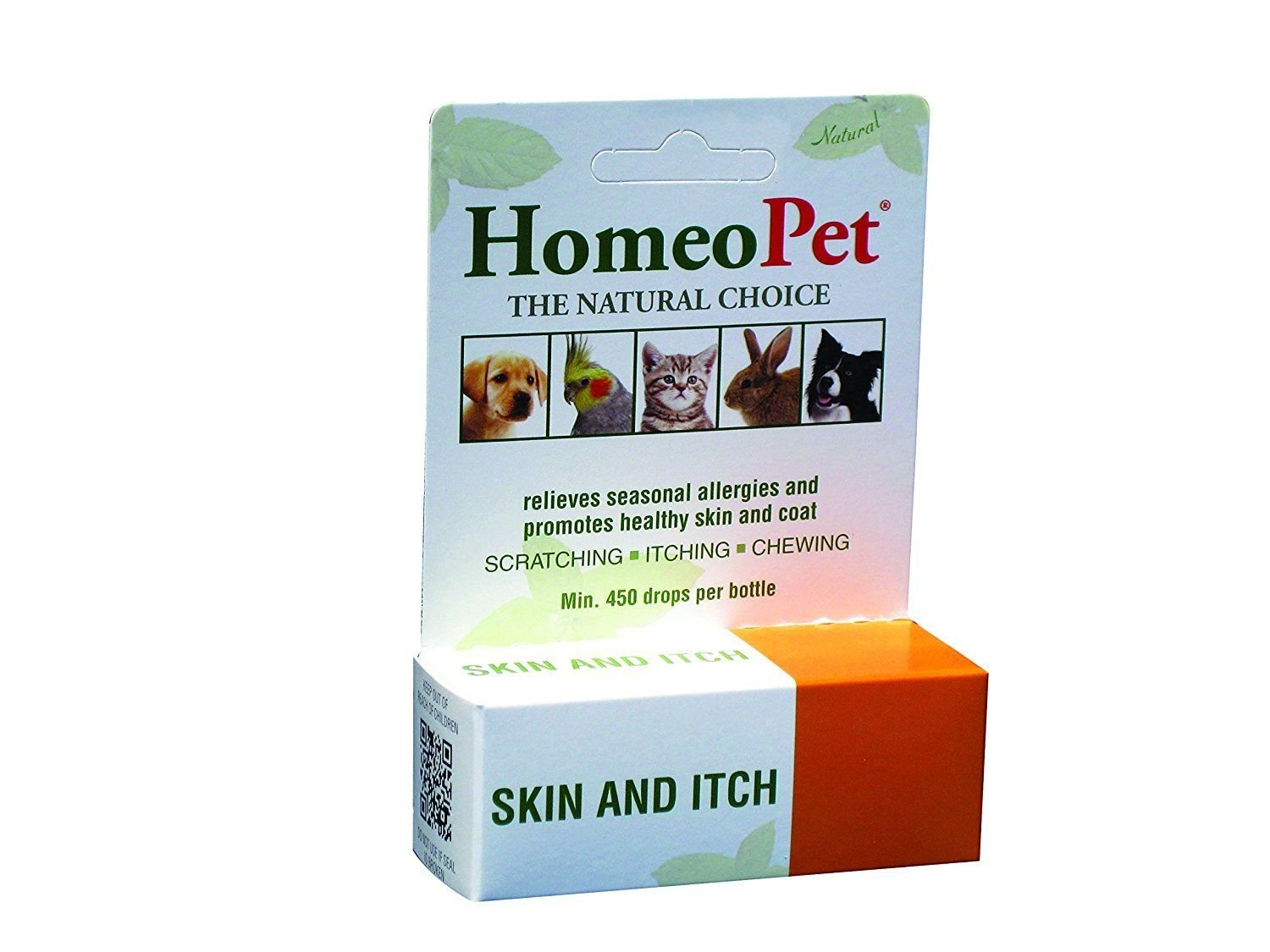 HomeoPet Skin & Itch Relief for kittens, puppies, pregnant, and nursing animals (15 mL)