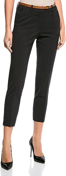 oodji Collection Donna Pantaloni Classici con Piega