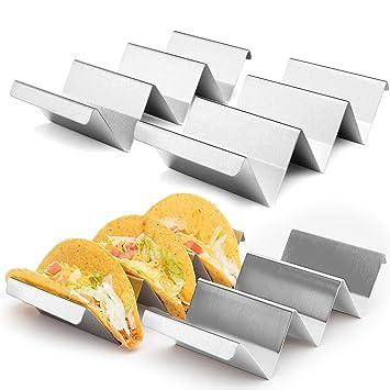 QuanTon Soporte de Taco de Acero Inoxidable, para Tortillas ...