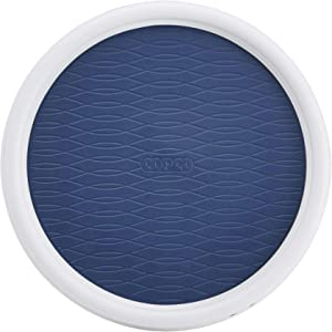 Copco Basics Non-Skid Turntable, 9 inch, Steel Blue