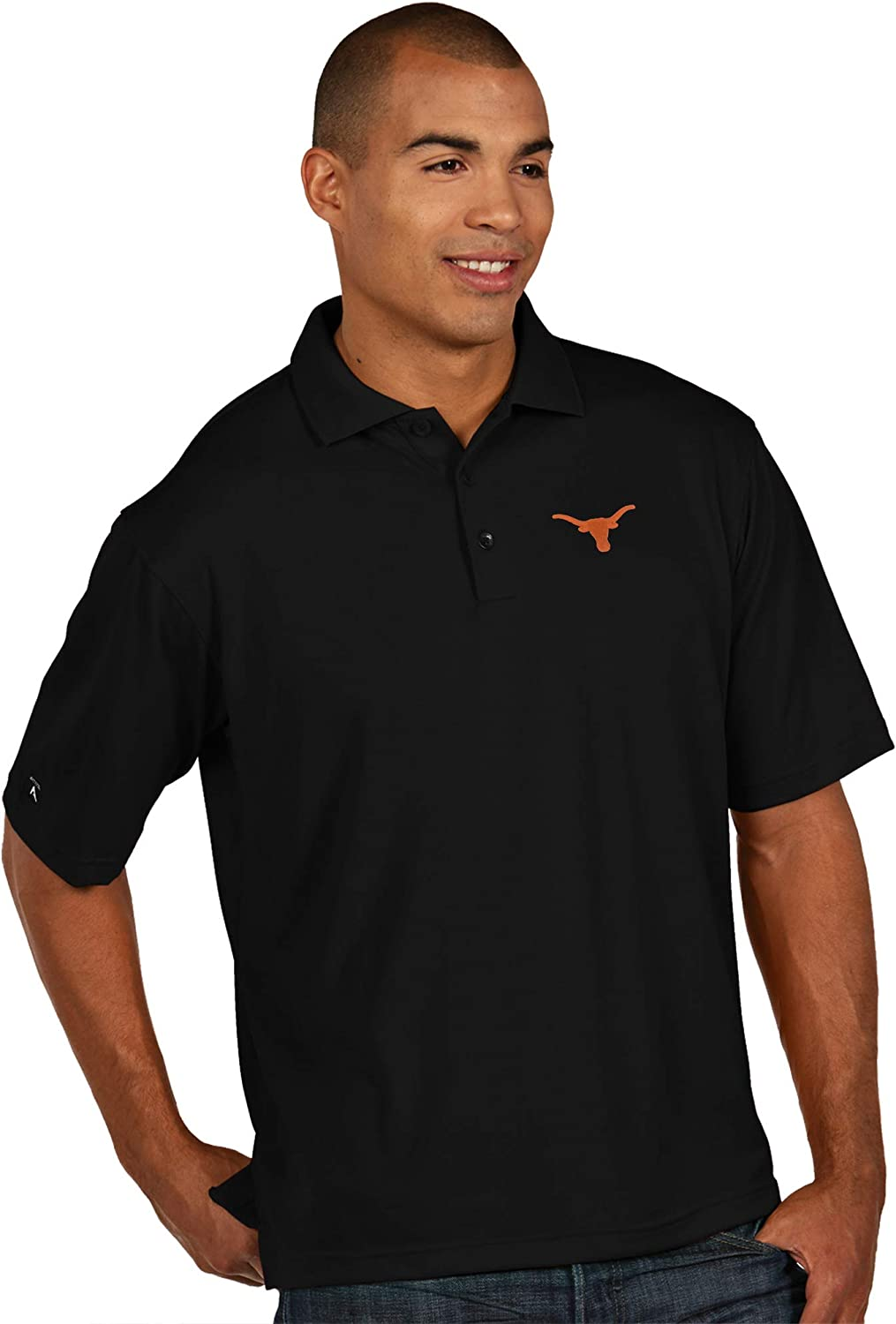 University of Texas Authentic Apparel NCAA Mens Pique Xtra Lite Polo
