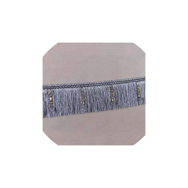 Tassels 12 Meters 16Cm European Pearl Beads Fringe Pompoms Trim Lace Tassel Polyester Ribbon Latin Curtain,Gray by Li-Mei-Tassels