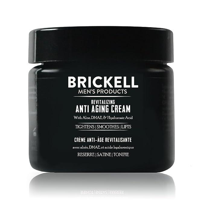 Brickell Men's Revitalizing Anti-Aging Cream For Men - Natural and Organic Anti Wrinkle Cream